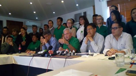 Representantes de Demócratas en La Paz.