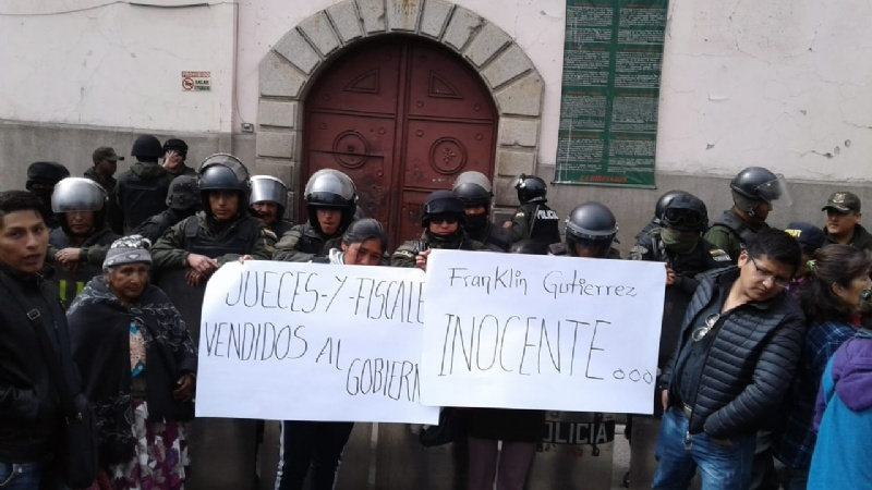 Gutiérrez fue trasladado a San Pedro y cocaleros marchan alrededor de la cárcel