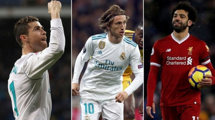 Cristiano Ronaldo, Luka Modric y Mohamed Salah son los nominados a Jugador del Año de la UEFA