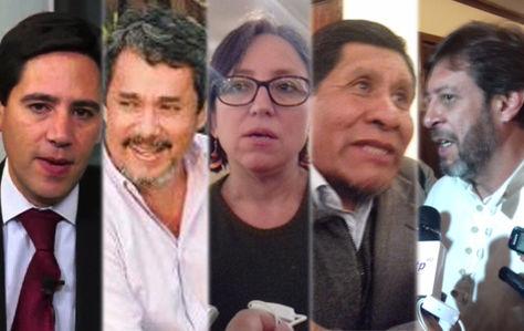 Romero, Molina, Canedo, Guarachi y Mendoza, los cinco consultores que diseñaron la Ley de Organizaciones Políticas.