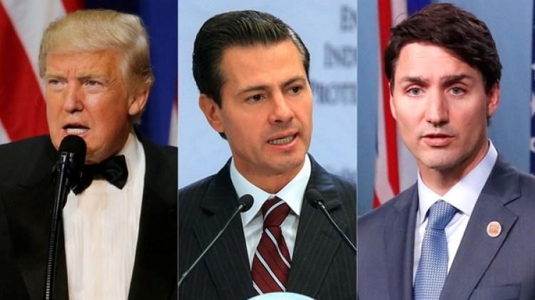 Donald Trump, Enrique Pena Nieto y Justin Trudeau
