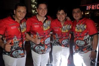 Diego Ortiz, Juan Marcelo Camacho, Jua Pablo Otero y Marco Ayllon