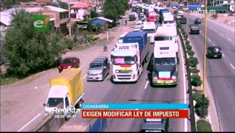 Cochabamba: Transportistas exigen que se modifique la ley de impuestos
