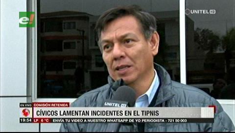 Cívicos cruceños y tarijeños lamentan incidentes ocurridos en el Tipnis