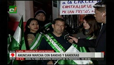 Fejuve anuncia movilización con bandas y banderas contra el municipio cruceño