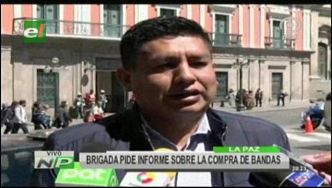 Brigada Parlamentaria Cruceña pide informe sobre la compra de bandas
