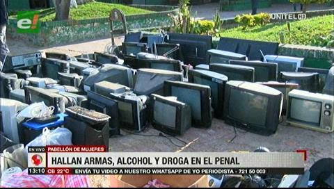 Hallan electrodomésticos en el pabellón de mujeres de Palmasola