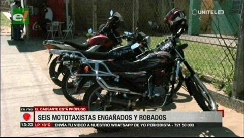 Seis mototaxistas fueron estafados por un supuesto empresario