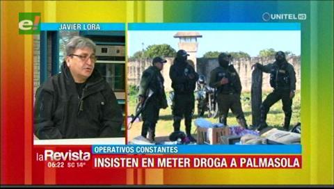 Controles continuos en la cárcel de Palmasola por el ingreso de sustancias controladas