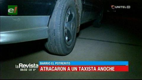 Falsos pasajeros atracan a un taxista