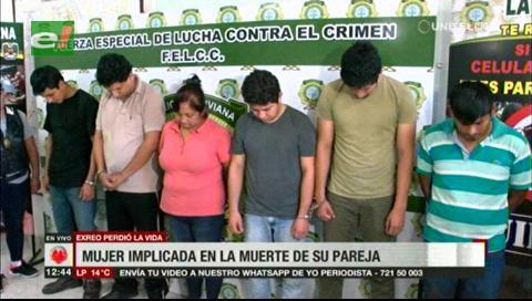 Presentan a presuntos responsables del asesinato a exreo de Palmasola