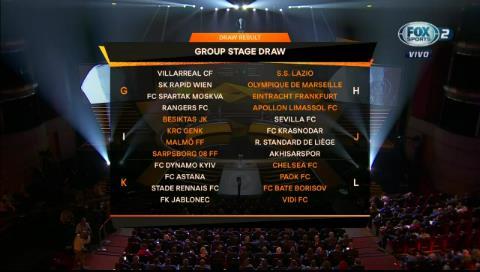 Así quedaron los grupos de la UEFA Europa League