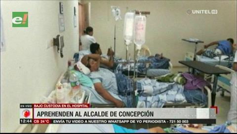 Aprehenden al alcalde de Concepción durante su recuperación de una cirugía