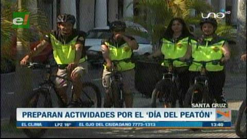 Alistan actividades para el Día del Peatón en Santa Cruz