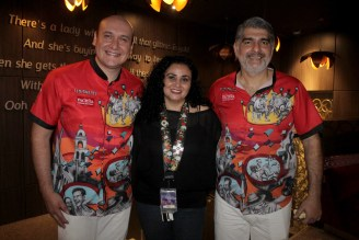 Wilson Villarroel, Vania Eid y Rodrigo Suárez