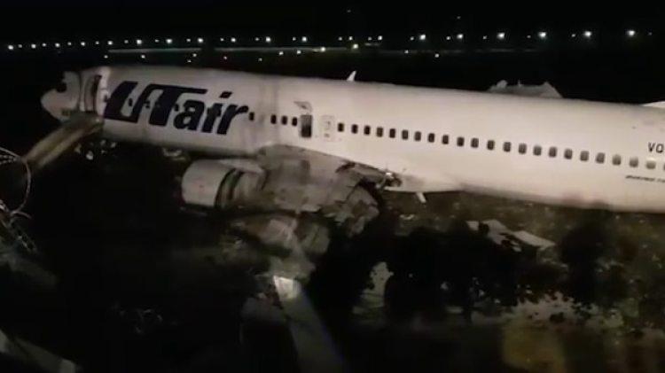 El avión se despistó poco después de aterrizar