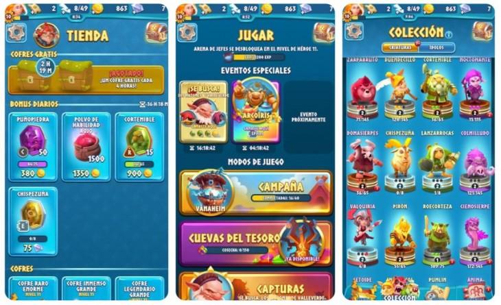 La tienda, diferentes modos de juego y personajes desbloqueados