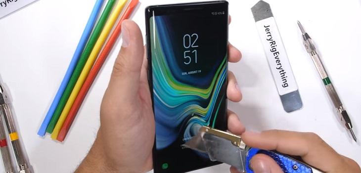Galaxy Note 9 test de resistencia