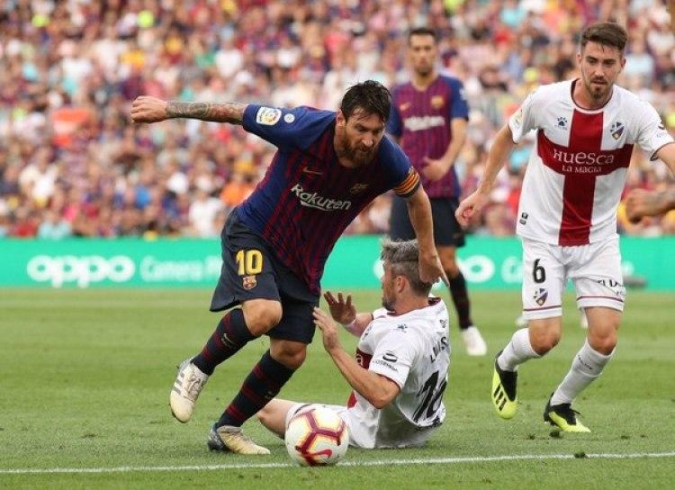 Messi lo volvió a hacer ante el Huesca