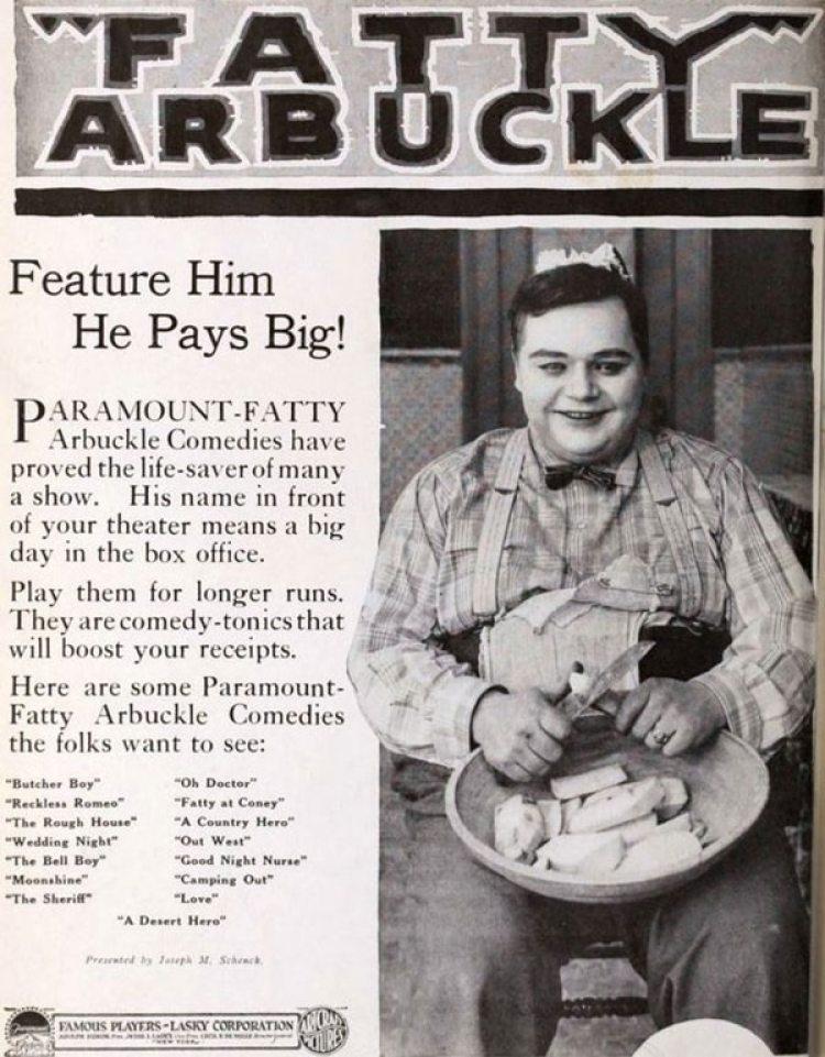 Arbuckle llegó a firmar un contrato por un millón de dólares, una cifra récord para la década del '20