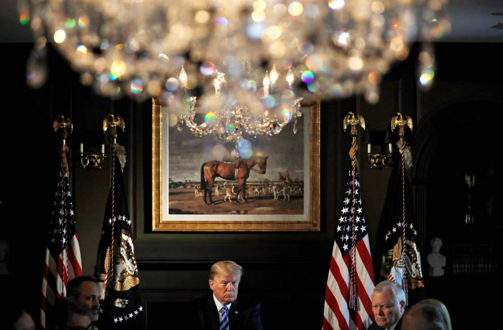Foto: Donald Trump durante un encuentro con líderes estatales en Berkeley Heights, Nueva Jersey. (Reuters)