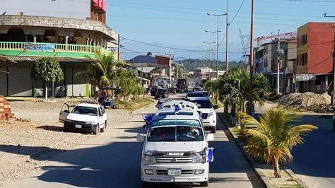El presidente Evo Morales participa de caravana para inscripción de militantes del MAS. Foto tomada de la cuenta de Twitter de Morales