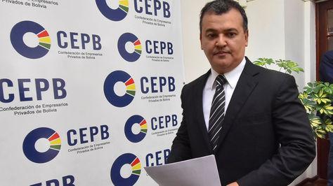 El presidente de la Confederación de Empresarios Privados de Bolivia (CEPB) Ronald Nostas. Foto: APG