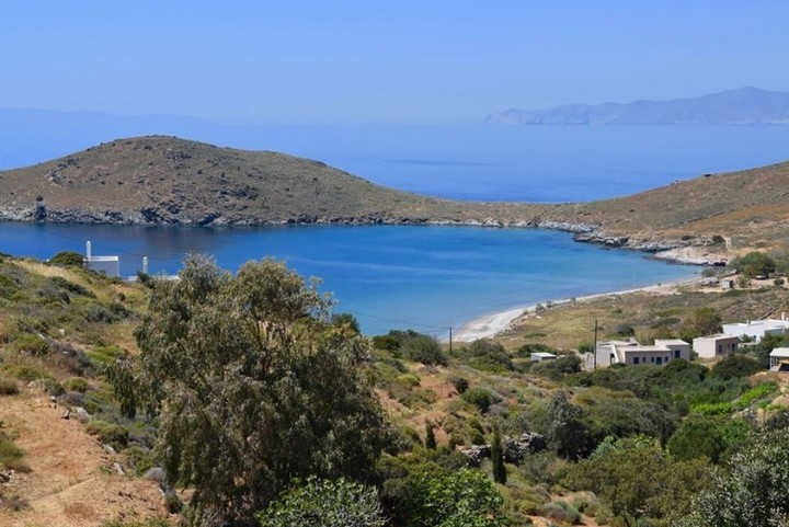 Una hermosa vista desde la isla de Siro al Mar Egeo (Facebook).