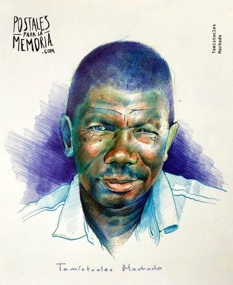 Temístocles Machado, defendía los derechos territoriales de las comunidades negras en Buenaventura. Su asesinato el 27 de enero de 2018 generó protestas multitudinarias en todo el país.