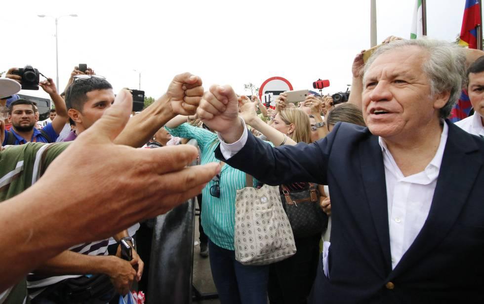 El jefe de la OEA, Luis Almagro, el viernes en Cúcuta (Colombia).