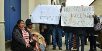 Jhiery Fernández contó a ANF sus temores, frustraciones y creencias sobre la justicia boliviana
