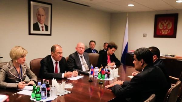 ONU: Maduro se reunió con presidente de Irán y canciller de Rusia
