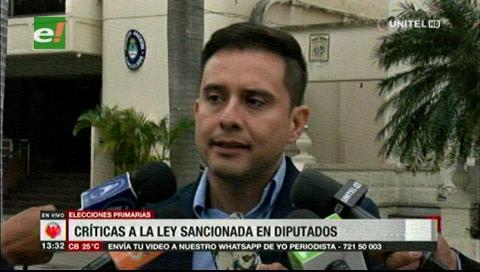 Serrano: El MAS busca electoralizar el país para desplazar al movimiento ciudadano que defiende el 21-F