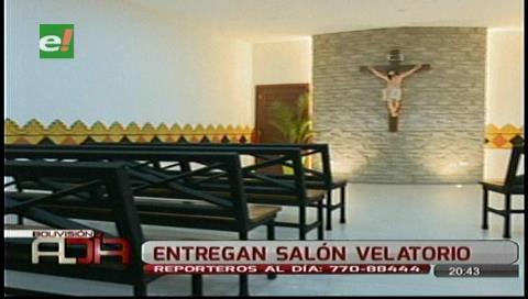 Municipio cruceño inaugura salón velatorio en el Distrito 1