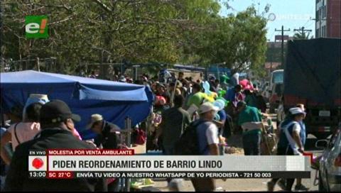 Gremiales de Barrio Lindo denuncian perjuicio por parte de los ambulantes