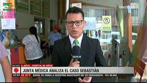 Junta médica analiza el caso del menor Sebastián en el Hospital del Niño