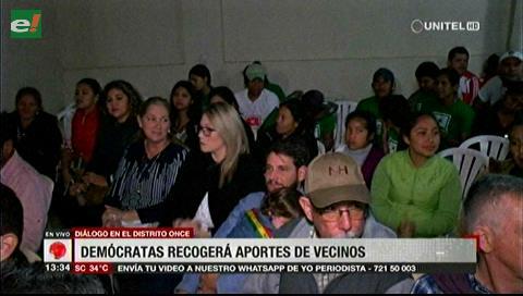 Demócratas alista el segundo diálogo ciudadano en Santa Cruz