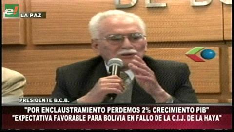 BCB: Enclaustramiento marítimo le resta a Bolivia el 2% del PIB