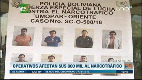 Felcn: $us 800 mil de afectación al narcotráfico en los últimos operativos