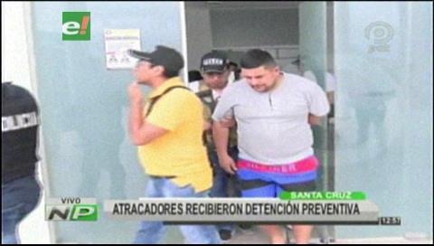 Atracadores colombianos son enviados a Palmasola
