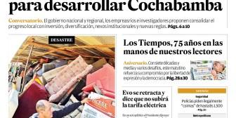 Portadas de periódicos de Bolivia del domingo 16 de septiembre de 2018