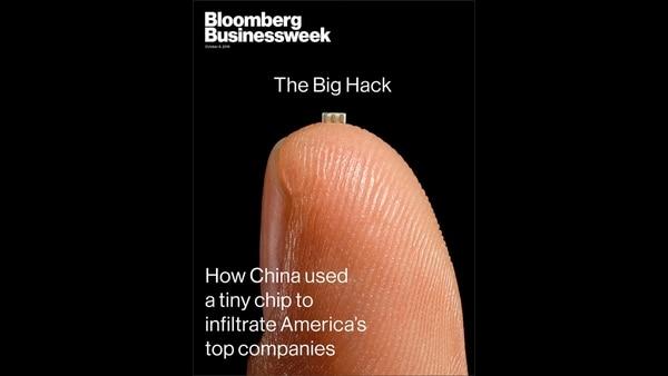 La portada de Bloomberg que investigó este caso de ciberespionaje chino que involucró el uso de microchips