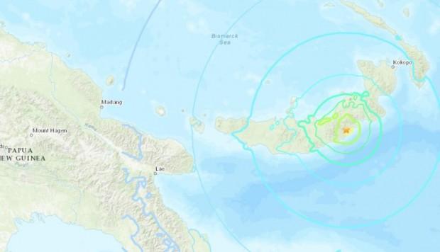 Fuerte sismo en la región de Papúa Nueva Guinea