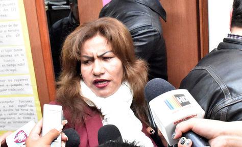 La jueza Patricia Pacajes en una fotografía del archivo de La Razón.