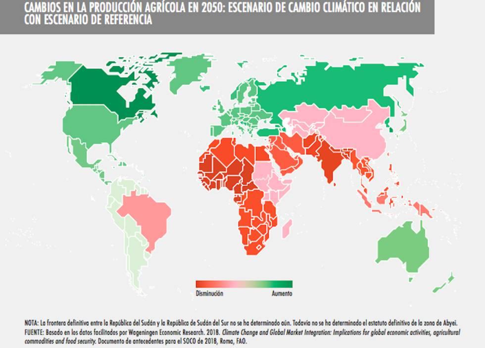 Ojo a los beneficiados por el cambio climático