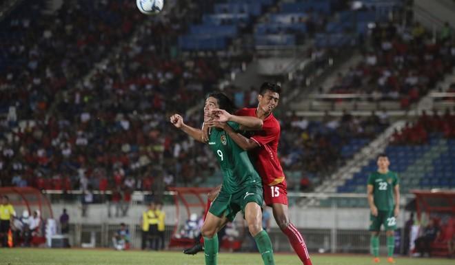 Moreno Martins en acción, uno de los goleadores de Bolivia en el 3-0 sobre Myanmar.