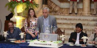 Morales felicita al Vice por su cumpleaños y destaca su compromiso con Bolivia