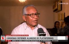 Cárdenas defiende alianzas de las plataformas