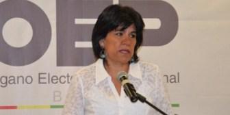 Katia Uriona presenta su renuncia al Tribunal Supremo Electoral de Bolivia