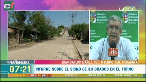 Temblor de magnitud 3.9 se sintió en El Torno